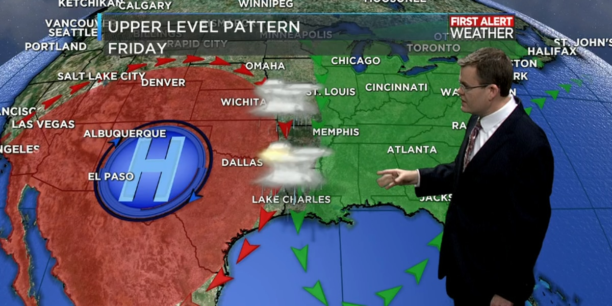 FIRST ALERT FORECAST: Persistent pattern brings a few scattered storms each day