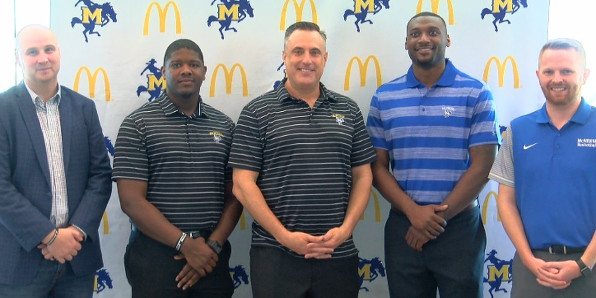 McNeese men's basketball coach, Heath Schroyer introduces 2018-19 staff
