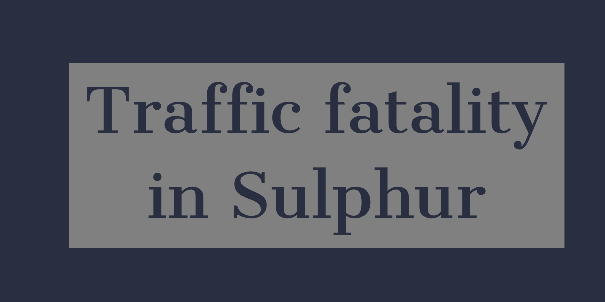 75-year-old man killed in single-vehicle accident in Sulphur