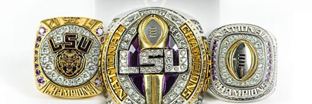 LSU receives 3 championship rings after perfect season