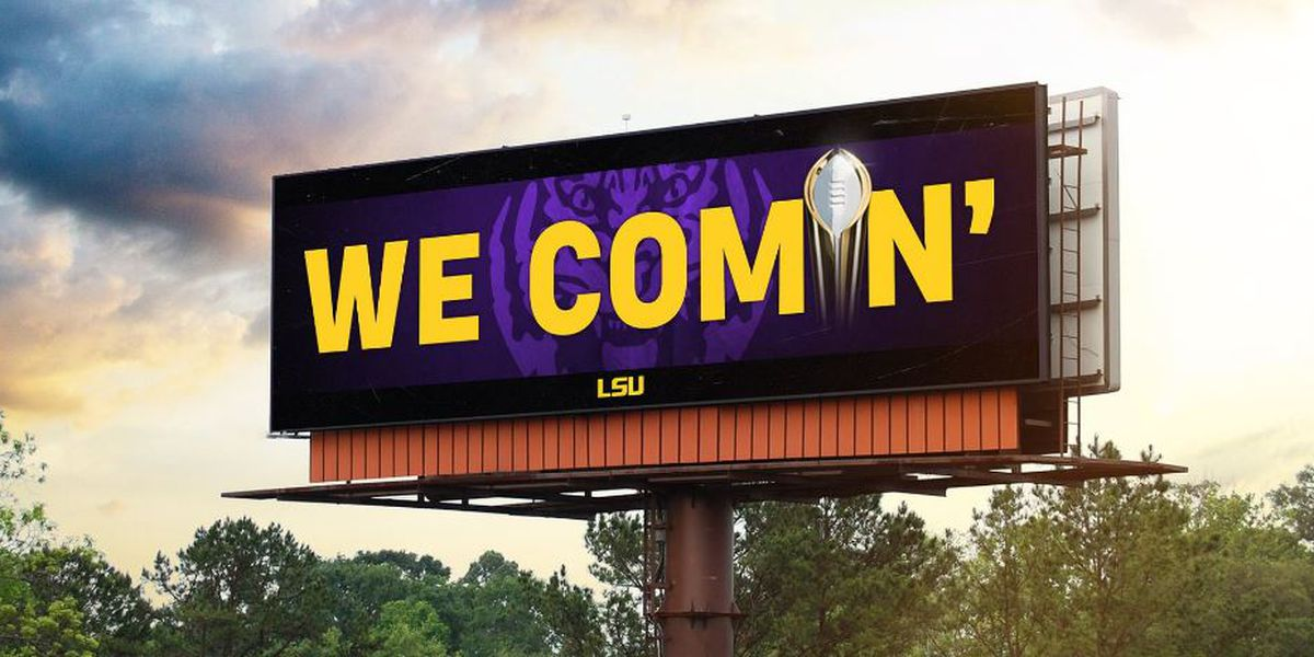 LSU football billboards go up in New Orleans