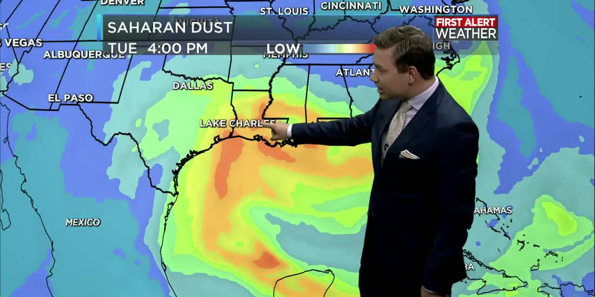 NOON FORECAST UPDATE: Rain possible every day this week with Saharan dust arriving