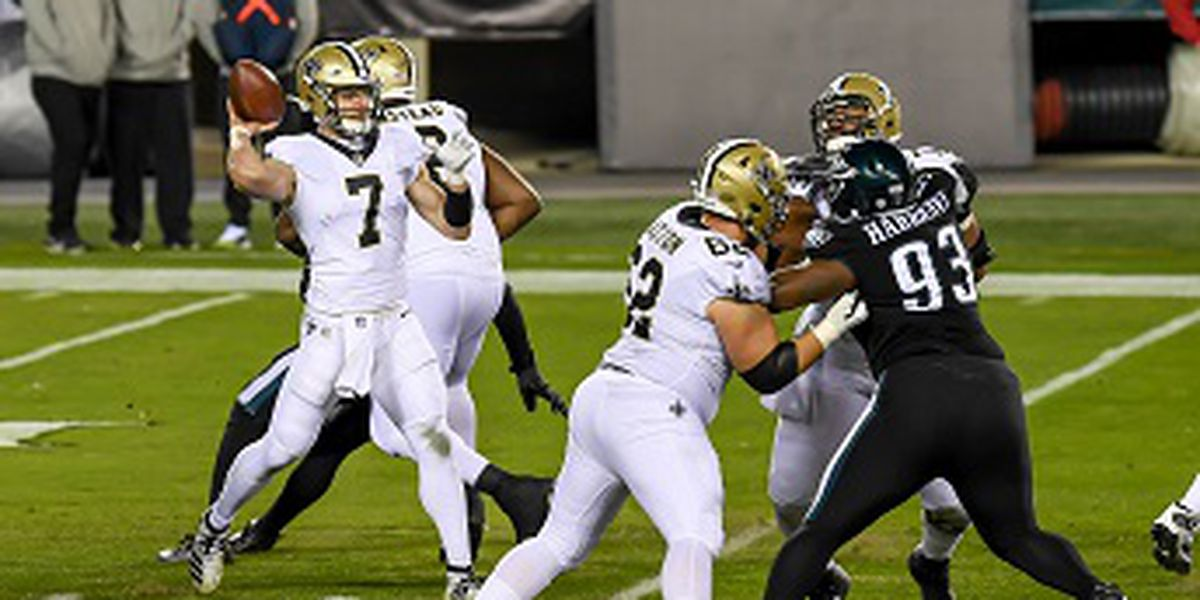 Eagles end Saints 9-game winning streak