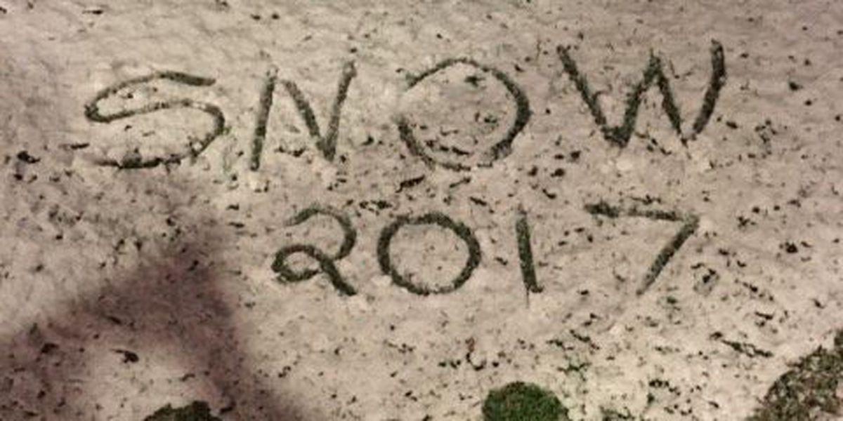 SLIDESHOW: Snow falls in Southwest Louisiana