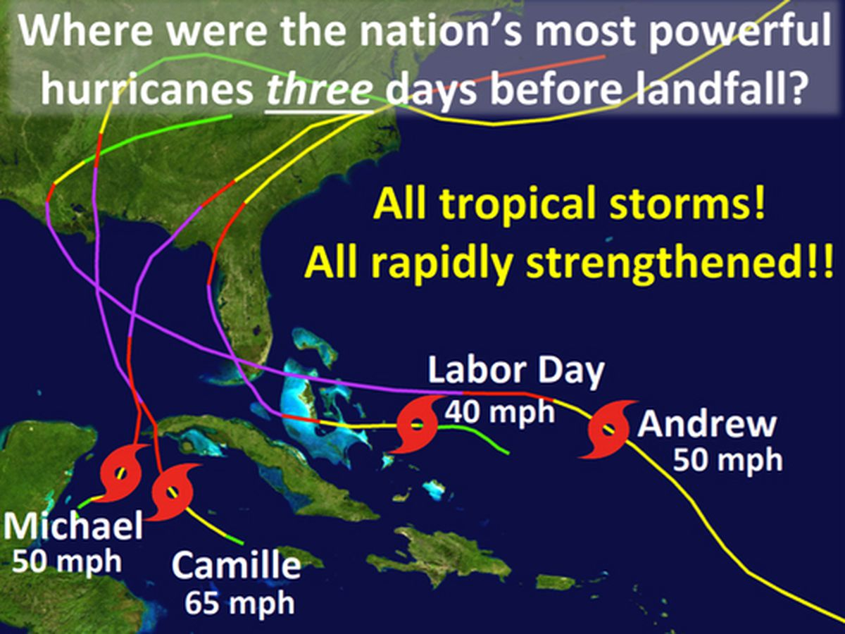 All four Category Five U.S. hurricanes rapidly intensified before making landfall