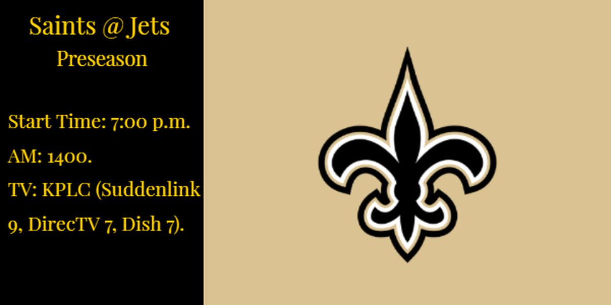 Saints take on the Jets in third preseason game Saturday