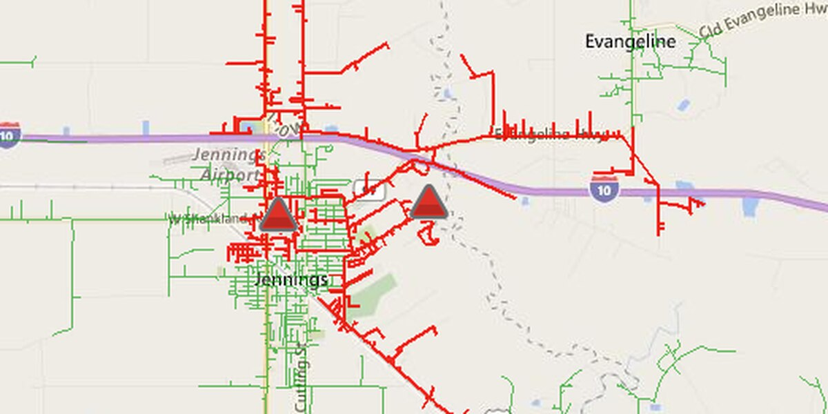 Over 2,000 without power in Jennings
