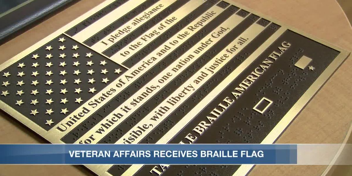 Veteran Affairs clinic receives braille flag