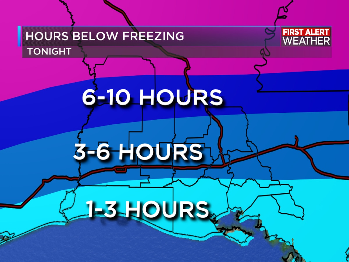 Freeze Warning issued for all of Southwest Louisiana tonight