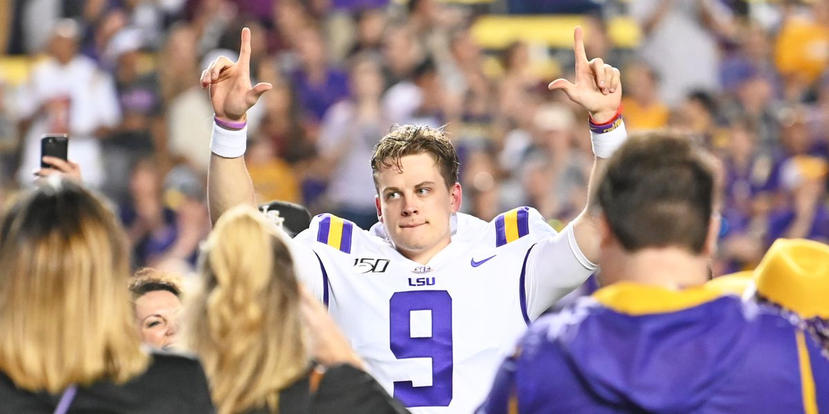 Joe Burrow wins 2019 Golden Arm Award