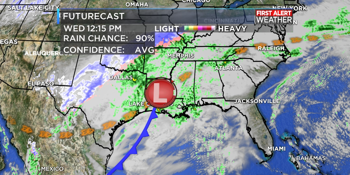 FIRST ALERT FORECAST: Rain and storms likely Wednesday, cold weather returns later this week…