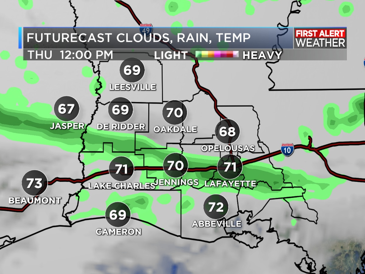 FIRST ALERT FORECAST: A warm and muggy day, limited rain chances today with showers possible for Thursday