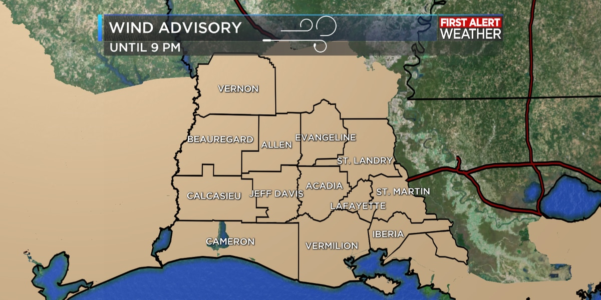 First Alert Forecast: Windy conditions continue into the evening hours as temperatures drop