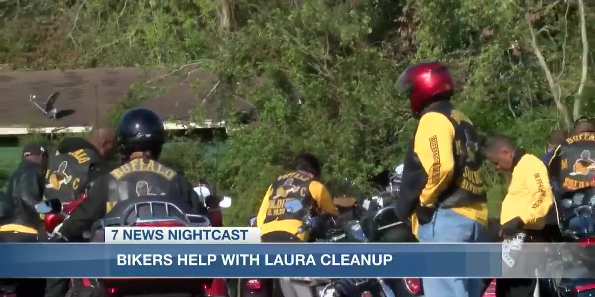 The Buffalo Soldiers Motorcycle Club helps clean up Deridder