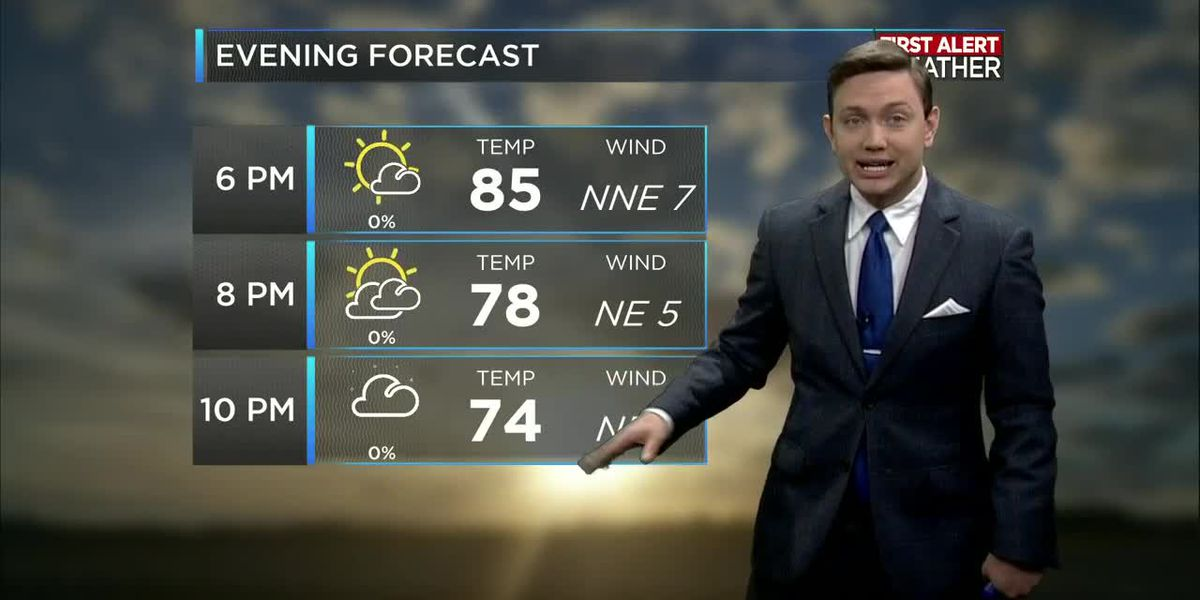 First Alert Forecast: More fantastic weather this week with limited rain chances