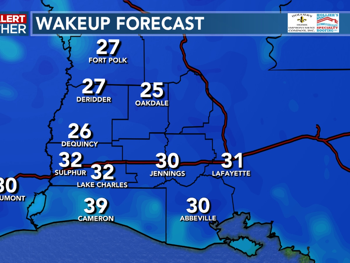 First Alert Forecast: Coldest temps of the season tonight with many areas dropping below freezing.