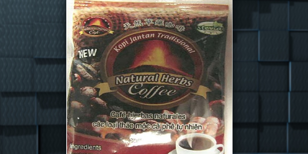 Male enhancement coffee recalled due to presence of undeclared Sildenafil and Tadalafil