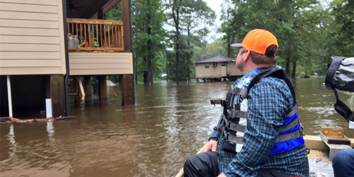 Impromptu search and rescue group helping Harvey flood victims
