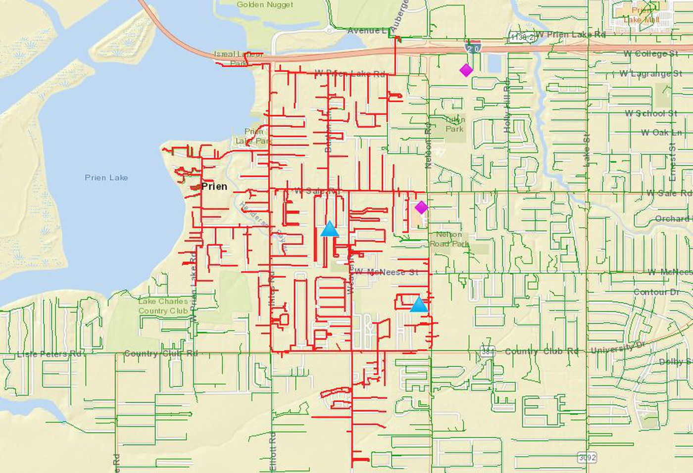 Entergy says two events cause of power outages in Lake Charles