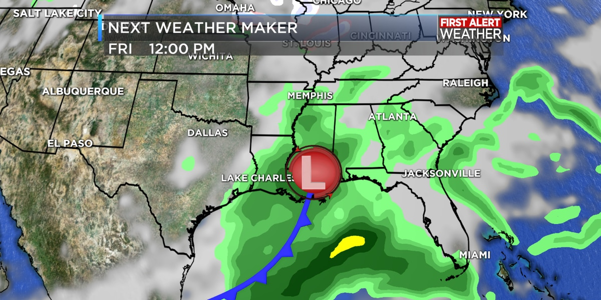 FIRST ALERT FORECAST: Dreary weather pattern continues through the week with rain chances every couple of days