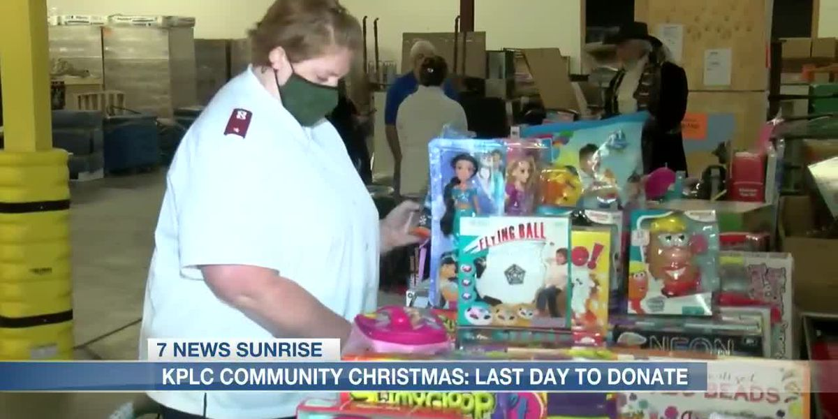 Today is the last day to donate to KPLC's Community Christmas drive