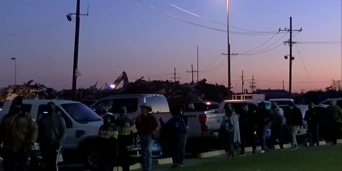 Voters line up for Election Day in Lake Charles
