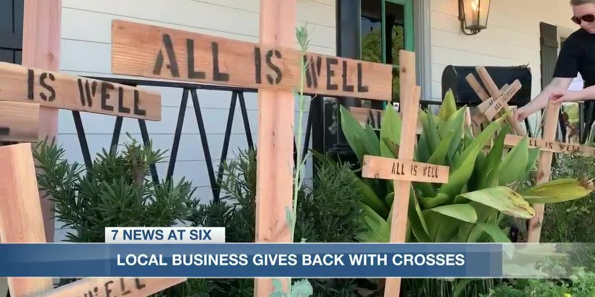 Local salon gives away free 'All is Well' crosses to boost community morale