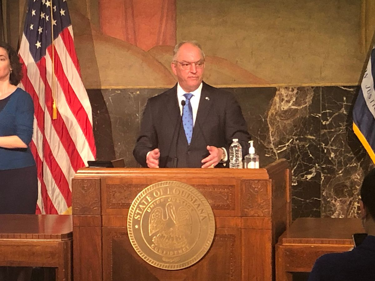 Gov. Edwards expected in Lake Charles Tuesday to speak on hurricane recovery efforts