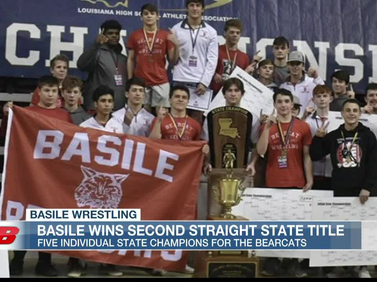 Basile wins second consecutive LHSAA Division III wrestling title, eight local athletes take home individual state championships