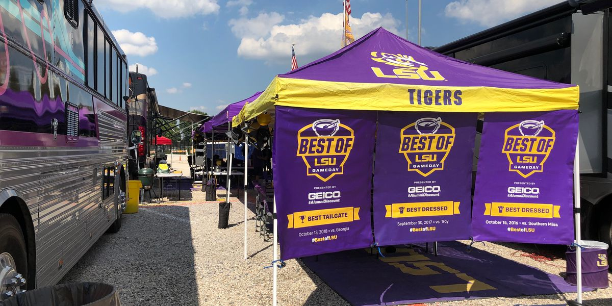 Tiger fans set up early, excited for upcoming football season