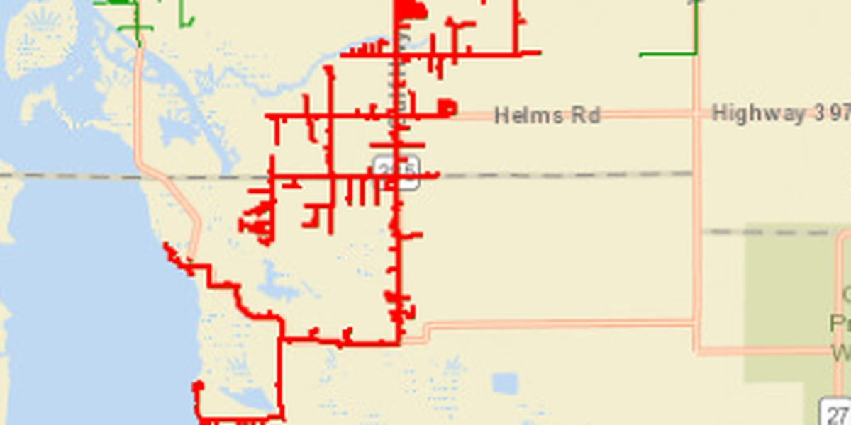Over 2,000 without power in Calcasieu and Cameron Parish