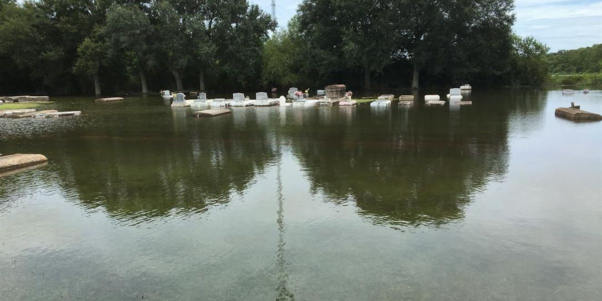 caskets at east ridge cemetery are floating several other areas flooded