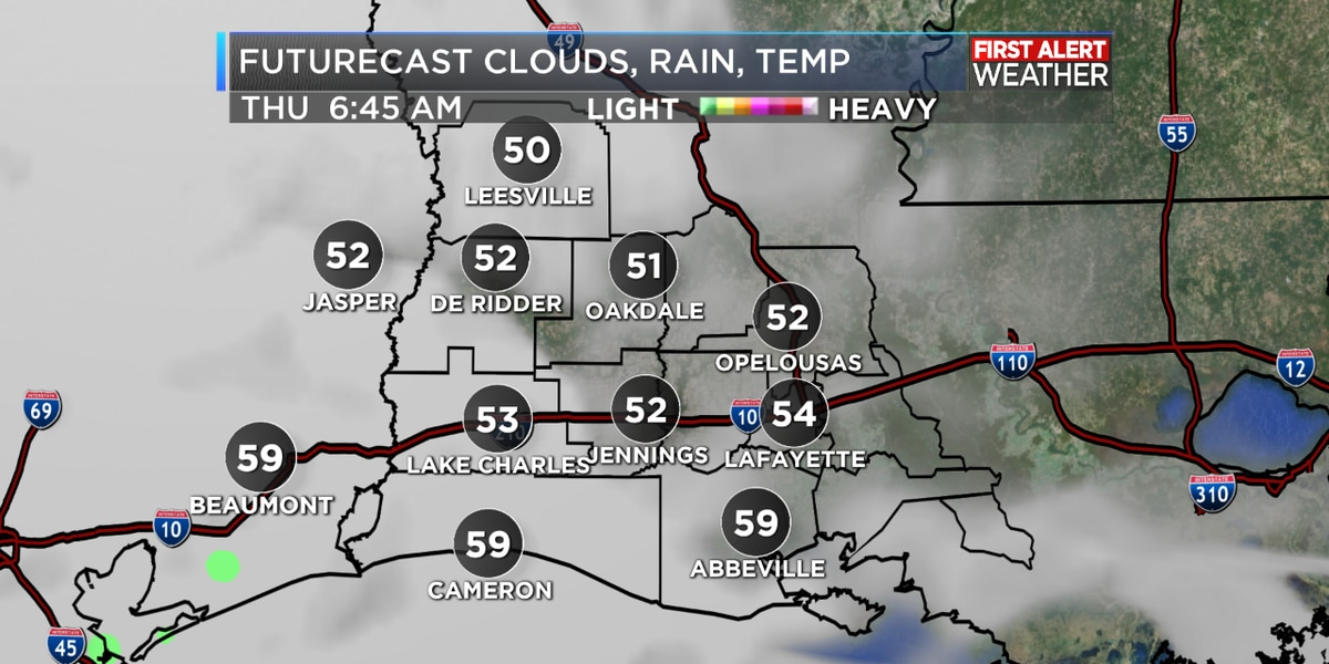 FIRST ALERT FORECAST: A cool overnight, clouds building for Thanksgiving