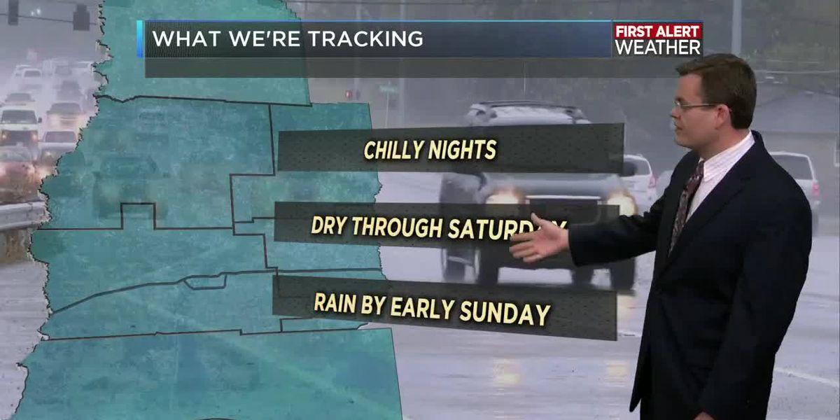 FIRST ALERT FORECAST: Rain ending early; warmer through the day ahead