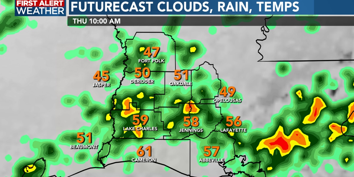 FIRST ALERT FORECAST: A rainy Thursday as temperatures fall, much colder into weekend