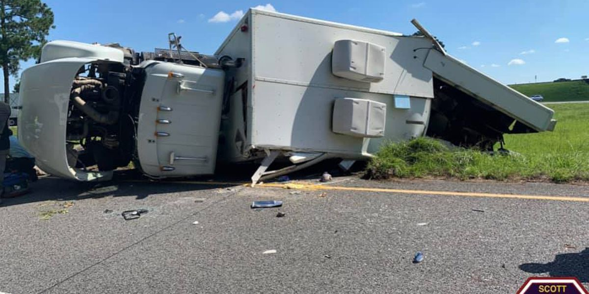 Tractor-trailer carrying blasting caps involved in crash in Scott