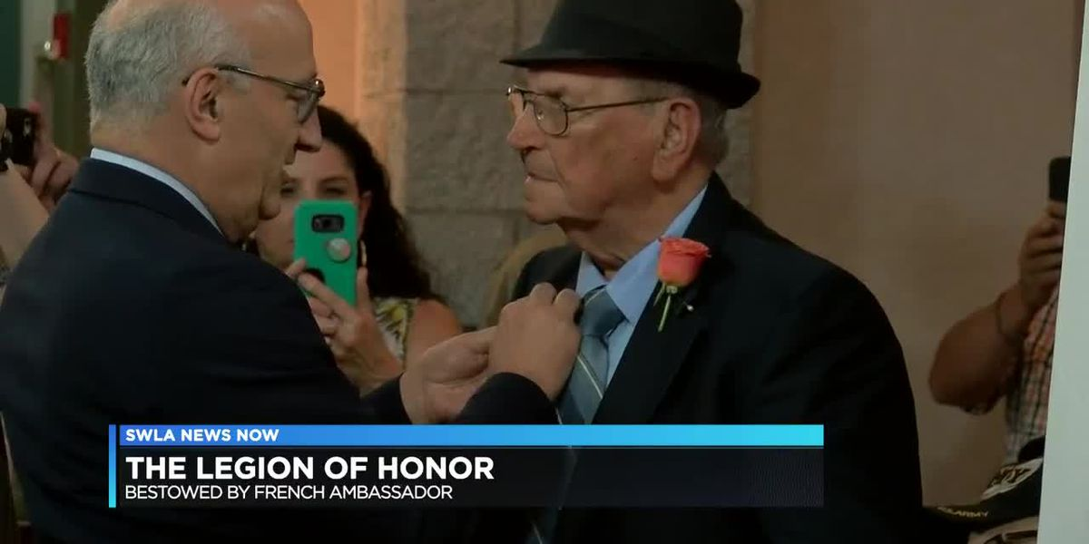 French ambassador bestows Legion of Honor on Jennings WWII veteran