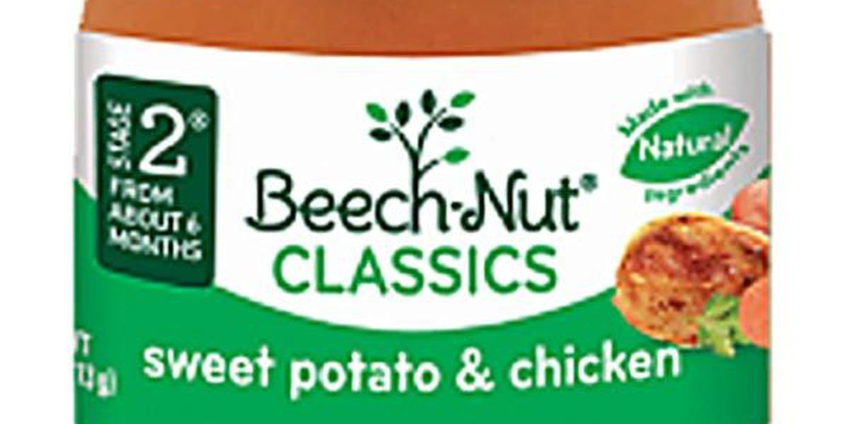 Baby food recalled after glass found in product