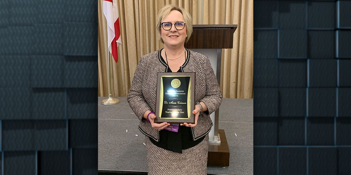 Local community college professor named SBEA Post-Secondary Teacher of the Year