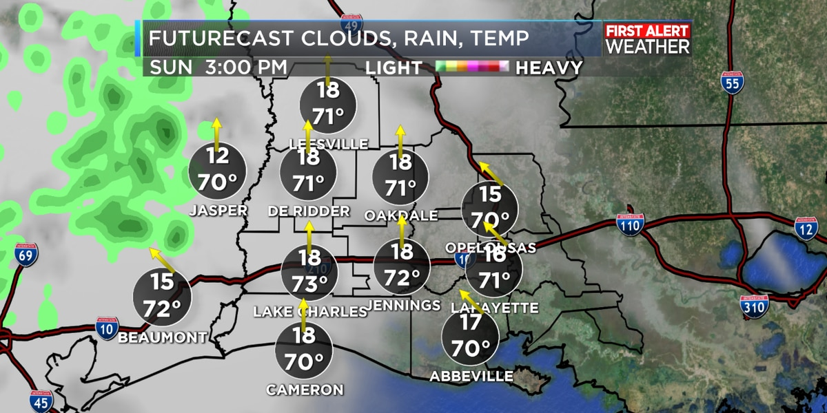 FIRST ALERT FORECAST: Clouds and a few showers earlier, a mostly clear night ahead