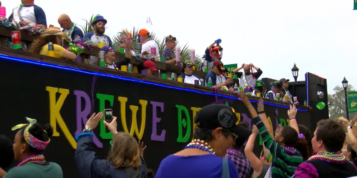 Lake Charles Mardi Gras parade route