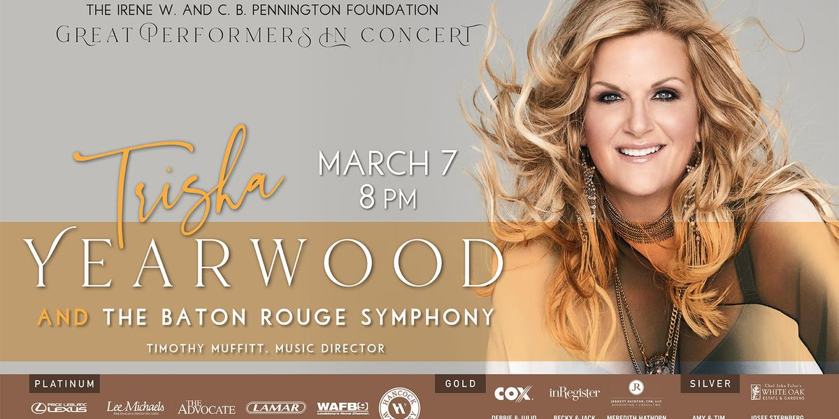 Trisha Yearwood to perform with Baton Rouge Symphony this weekend