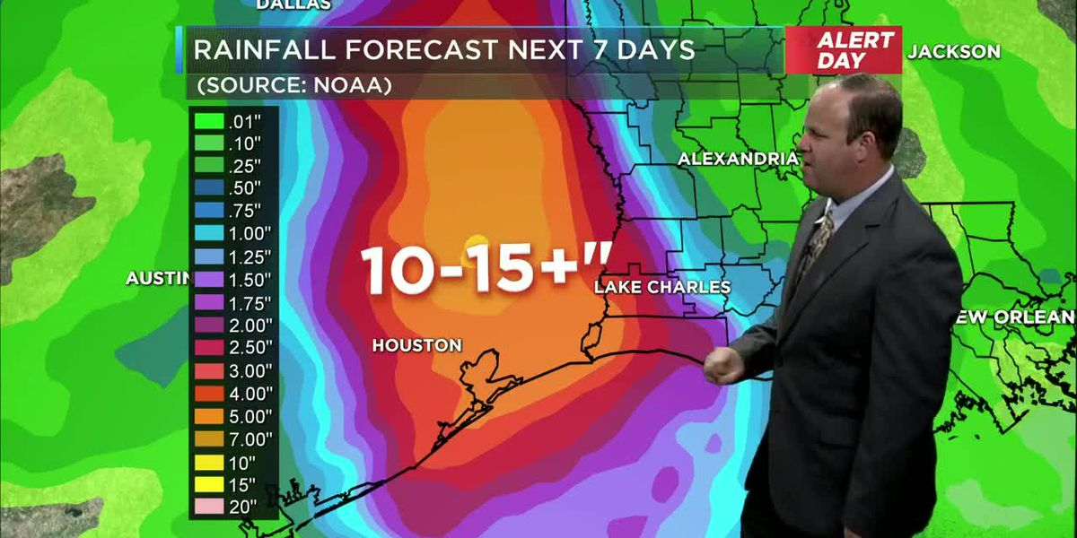 First Alert Forecast: Tropical Downpours continue today and tomorrow