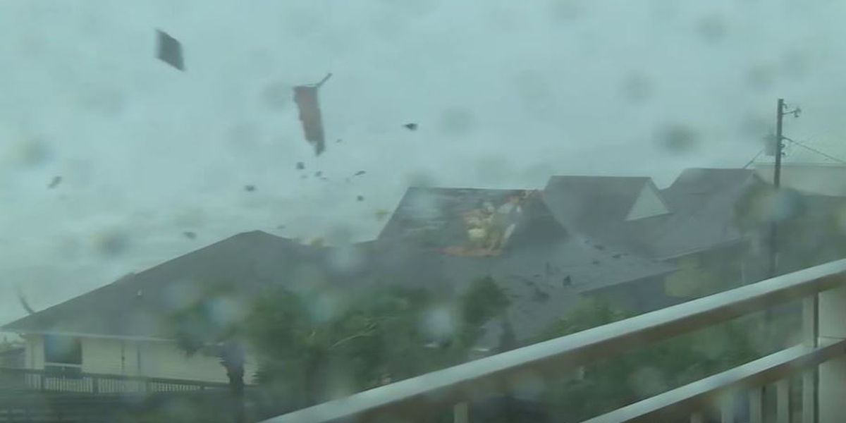VIDEO: Roof peels off Panama City Beach home during Michael landfall