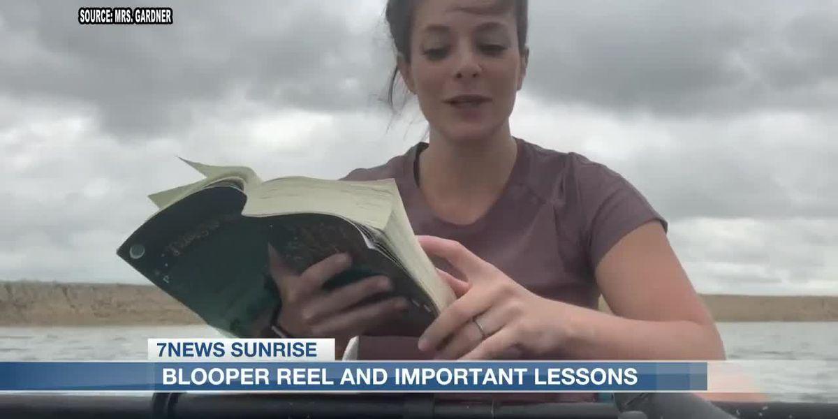 Teacher makes blooper reel for students