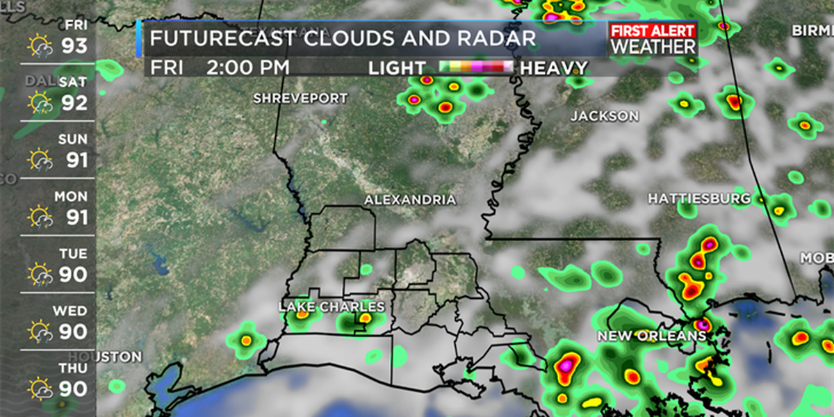 FIRST ALERT FORECAST: Limited rain chances for now, then higher rain chances next week