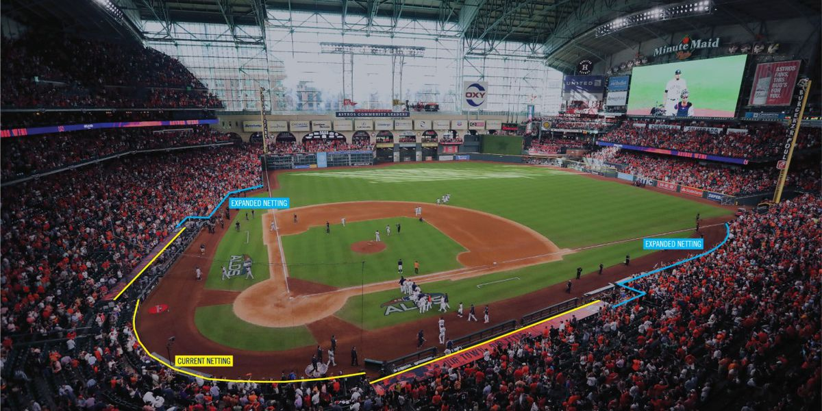 Houston Astros to extend protective netting at Minute Maid Park