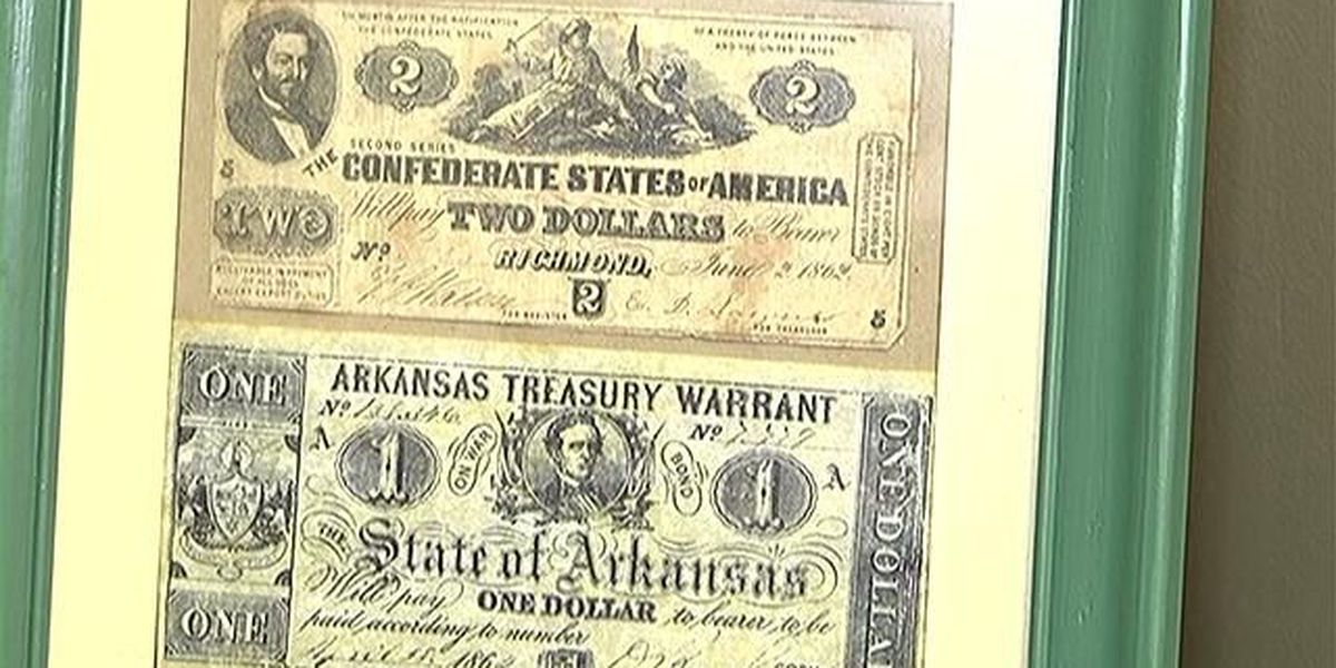 Rare Civil War and Railroad currency on display