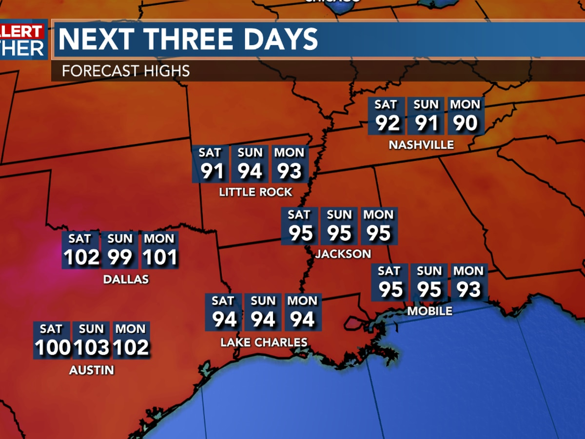 FIRST ALERT FORECAST: A hot and dry end to the week, the rolls on into the weekend