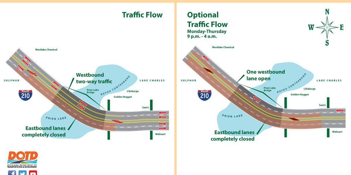 Plan to shift 210 traffic delayed